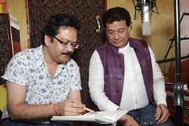 Music Composer Vivek Prakash & Bhajan Samrat Anup Jalota At Urdu Recording Of Bhagvadgita