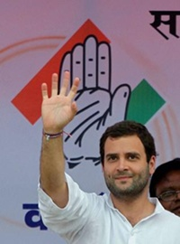 Rahul Gandhi elected as the President Of Indian National Congress Celebration at Congress office