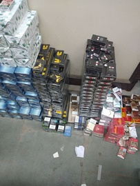 Police Seizes illegal Cigarettes On Request of a NGO Utprarit