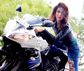 Bollywood Actress Heena Panchal Turn Hot Biker Chicks