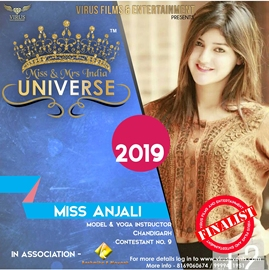 Yash Events & Entertainment's Miss & Mrs. India Universe 2019 Contestant Anjali Sharma