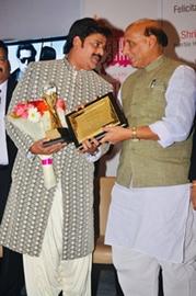 Mega Star Ravi Kishan  Awarded The – Uttar Pradesh Pride Award – By Union Home Minister Rajnath Singh