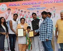 Award Ceremony Of Roll Models Skaters By India Star Book Of World Record 2019