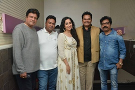 Actor Rajesh Sharma, Rahul Bagga and Nancy Thakkar promoting  – Facebook Wala Pyar