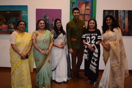 Sandip Soparrkar, Sharbani Mukherjee and Manju Lodha inaugurates India on Canvas An Exhibition of Paintings