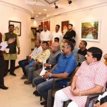Reflection Of Life Solo Exhibition Of Paintings By Arjun Dhaku Machivale At Jahangir Art Gallery