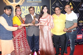 Dr. Atlanta Kaashhyap  Honoured With Best Dress Designer CHITTARA AWARD  At Bangalore