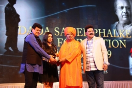 GLIMPSES OF DR GURJEE KUMARAN SWAMI OF 5TH SANTAN DHAM BLESSES AWARD WINNERS Of DADA SAHEB PHALKE FILM FOUNDATION 2019