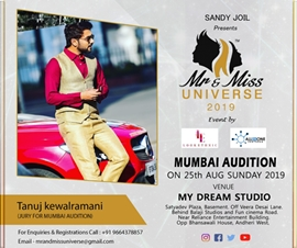 Mr And Miss Universe 2019 Audition In Mumbai Presented by Sandy Joil