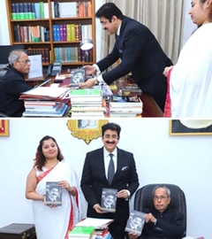 Pranab Mukherjee Appreciated The Biography of Sandeep Marwah