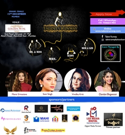 Talent Runway Fashion Beauty Pageant 2019 on 15th  December 2019 at Golden Petal Growel 101 Mall, Mumbai Maharashtra