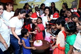 Actress Nikita Rawal Celebrates Her Christmas Week With HIV Positive Kids An Effort To Give Smiles