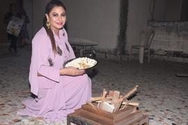 Gurpreet Kaur Chadha  Celebrated Lohri 2020 with family And friends