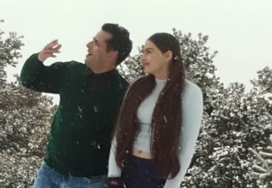 Hindi Film MISS MASALA DOSA Song Shoot at Auli Uttrakhand with Lavina Israni & Ojas Rawal