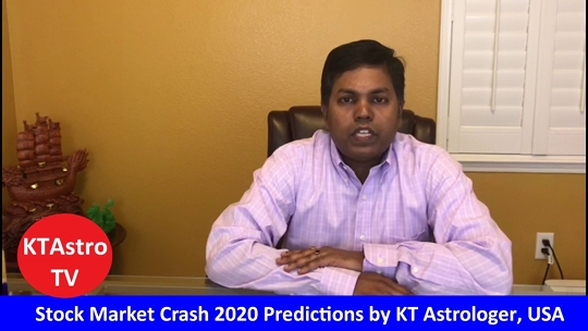 KT Astrologer Predicted Market Crash In February  Flash Crash In March –  Credits Vedic Astrology