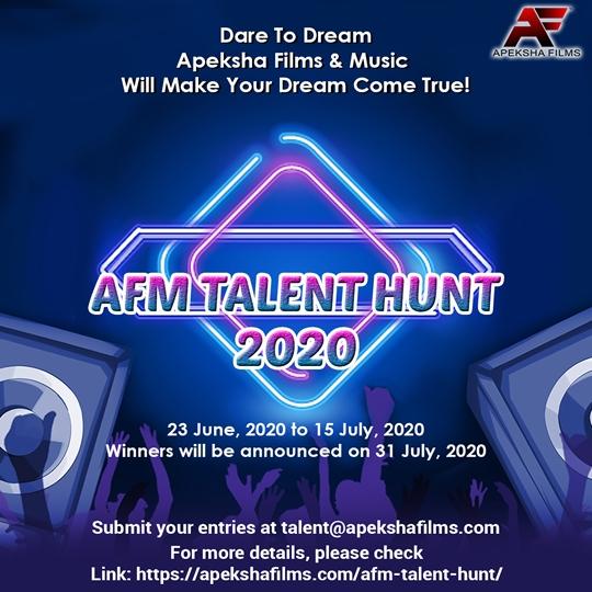 Apeksha Films & Music Announces Contest For Fresh Talent