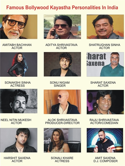 Bollywood  Famous Kayastha Personalities