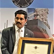 Ajith  P J  MD Aries  Marine  The Youngest Member From The GCC Region Honoured With SNAME Fellowship