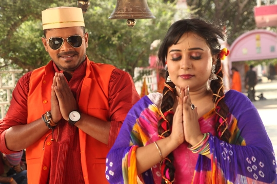 Pramod Premi  Is Shooting For His Bhojpuri Film Prem Rang In Varanasi