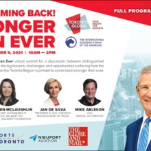 Toronto – Ontario And Canada  Are Making A Come Back – Stronger Than Ever