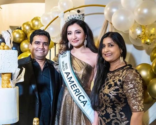 Miss World America 2021 Winner Shree Saini Gets Glorious Welcome At Home
